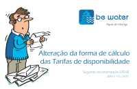 Alteracao da formula de calculo das Tarifas de Disponibilidade de Agua e Saneamento