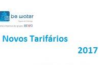 Ja estao disponiveis para consulta os tarifarios de Agua e Saneamento - 2017